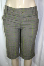DKNY JEANS Sz 2 Beige Green Black Glen Plaid Cuffed Knee Length Dress Sh... - $24.65