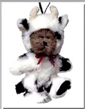 "Boyds Bears ""Mini Mookins"" #562432- 3.5"" Mini Cow Ornament- New- 2003 -R... - $15.99"