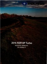 2016 Polaris RZR XP 1000 Turbo Service Repair Manual on a CD - $12.00