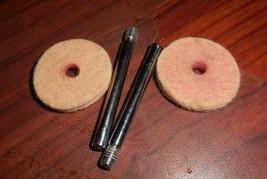 Two Kenmore 148.15600 Screw In Spool Pins #YA-2F w/Felt Pads - $10.00