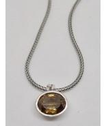 "Authentic Pandora Sterling Silver 925 Smoky Quartz Pendant Necklace 20"" - $165.00"