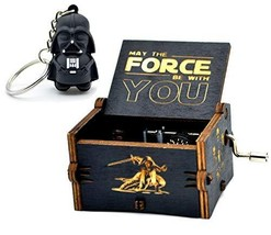 Star Wars Music Box- 18 Note Mechanism Antique Carved Music Box Crafts T... - $10.91