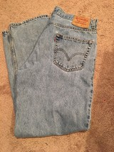 Levi 550 Relaxed Fit Faded Color Denim Jeans Tag 36x30 C9 - $14.50