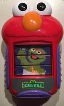 ELMO Sesame Street Oscar Bert Abby Toy Cell Phone Talks Slides Up w. Batt - $23.33