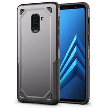 Samsung Galaxy A8 2018 Armor Dual Layer Impact Shockproof Cover - DARK GREY - $6.99