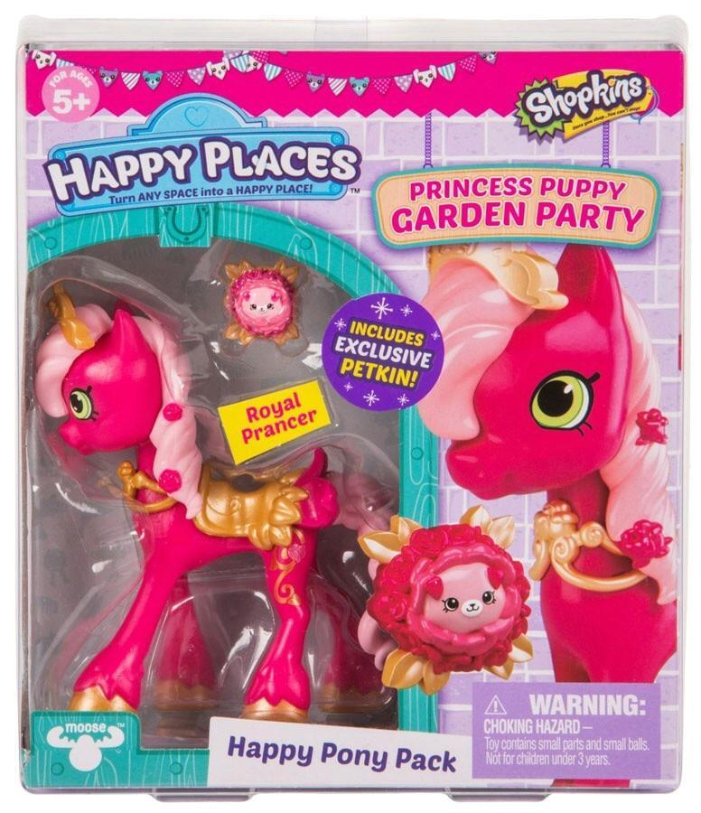 Shopkins Happy Places Royal Prancer Pony Princess Puppy Garden Party S4