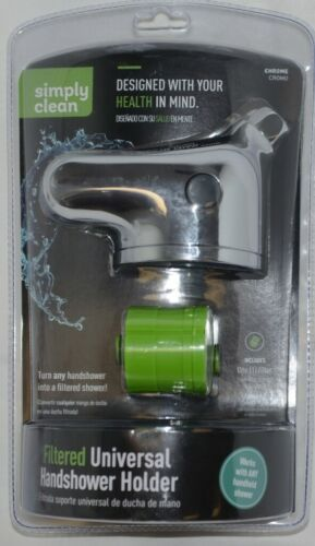 Simply Clean 8485300SC Chrome Filtered Universal Hand Shower Holder