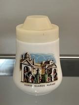 Pair of Vintage London Milk Glass Salt and Pepper Shakers image 3