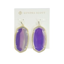 Kendra Scott Danielle Iridescent Dichroic Glass Gold Tone Drop Earrings NWT - $88.61