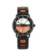Wooden Watch Men Chronograph Military Quartz Watch Luxury Stylish Men's ... - $39.98