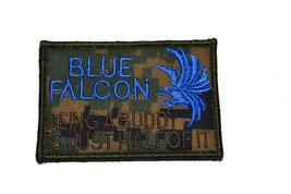 "Blue Falcon ""Buddy F****er"" 2x3 Military Patch / Morale Patch - Woodland Digital - $5.87"