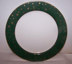 """Galaxy Sukura Fine Porcelain Dinner Plate 10 5/8"""" 14k Gold Green White C... - $12.82"""