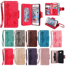 Leather Embossing Flip Stand Wallet Photo Cover Case for iPhone 5 SE 6 7 Plus - $10.99