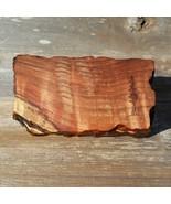 Wood Jewelry Box Redwood Tree Engraved Rustic Handmade Curly Wood #N Men... - $91.99