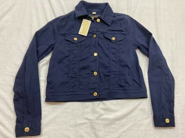 M63 MICHAEL KORS True Navy Blue Denim Jacket WOMEN'S Small - $67.29