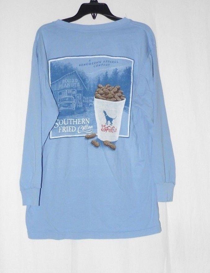87e573e2 57. 57. Previous. Southern Fried Cotton Boiled Peanuts LS Blue T-shirt NWT  M L. Southern Fried Cotton ...