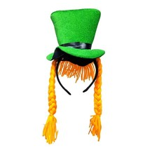 Green Hat with Plait Hairbands Costume Photo Props Gift Saint Patrick's ... - $9.08