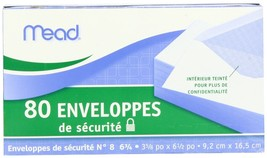 Mead #6 3/4 Security Envelopes, 80 Count (75212... - $23.76