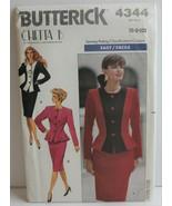 Butterick 4344 Sewing Pattern Top Skirt Size 6 8 10 Chetta B - $15.47