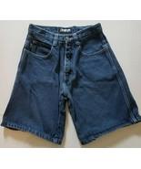 Southpole Boys Sz 16 100 Cotton Baggy Dark Denim Blue Jean Shorts RN82628 - $11.70