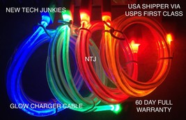 GLOW light LED USB 3.0 Data Sync charger Cable for GALAXY S5 NOTE 3 N900... - $6.97