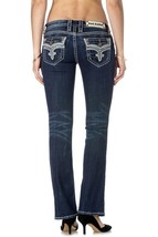 Rock Revival Women's Premium Boot Cut Denim Jeans Ena B18 image 2