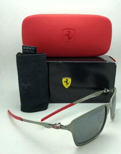 Polarisiert Oakley Sonnenbrille Scuderia Ferrari Tincan OO4082-09 Schwarz Chrom image 5