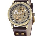 H clock male stainless steel strap antique steampunk automatic skeleton mechanical thumb155 crop