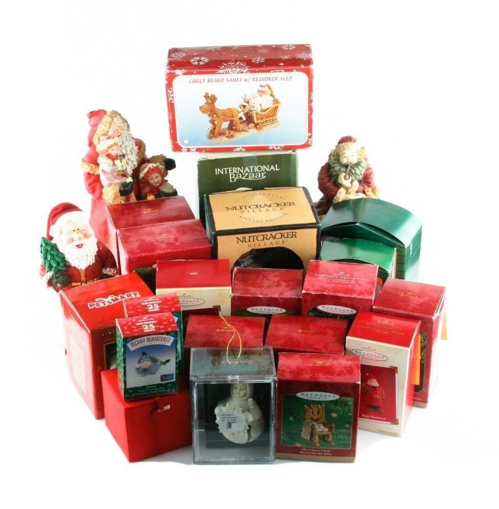 Primary image for Lot of 14 Hallmark Ornaments & Other Christmas Memorabilia! Great Starter Kit!