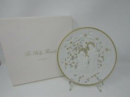 LENOX PORCELAIN COLLECTOR PLATE 1993 HOLY FAMILY NATIVITY WHITE PIERCED ... - $16.78