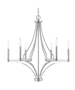 Capital Lighting C420461PN Wright 6 Light 29 inch Polished Nickel Chande... - $376.15