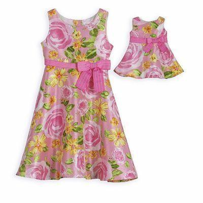Primary image for Dollie and Me Floral Dress with Matching Outfit for 18 inch Play Doll 4T/4