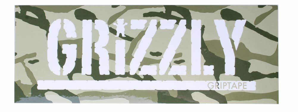 "Grizzly Griptape Green Branch Camo 8"" Sticker Skateboard Decal NEW"