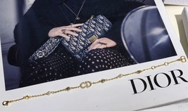 Auth NEW Christian Dior CLAIR D LUNE GOLD Crystal Pearl BRACELET  image 6