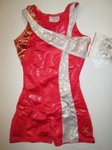 NWT Girls XS SC (4-5) Biketard Foil Child Dance Gymnastics Unitard Leotard - $16.95