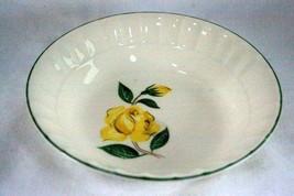 "Cronin China 1950's Yellow Rose #55 Berry Bowl 5 3/4"" - $2.07"