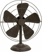 Industrial Style Metal Cage Iron Non-Functioning Fan Decor & Ambiance Piece - $139.00