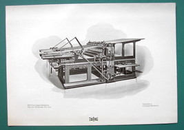 PRINTING PRESS by Machinery Trust Co Advertisement - 1901 Offset Litho P... - $8.55