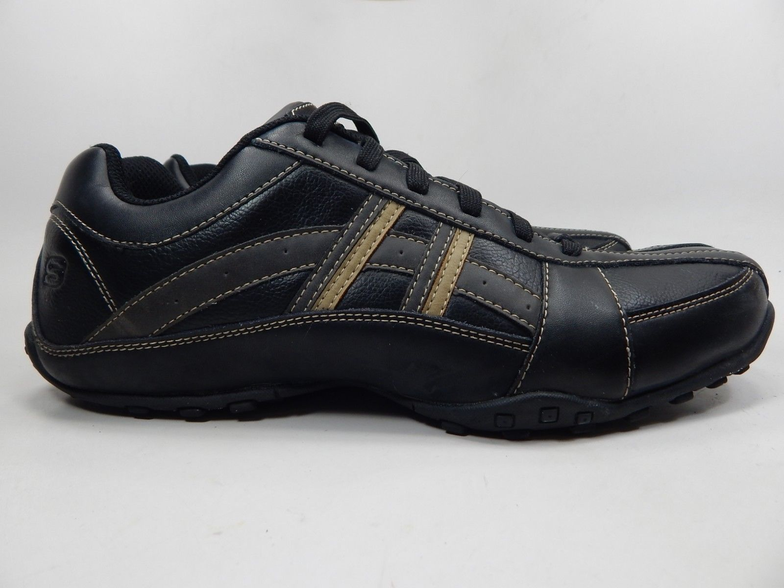 Skechers Citywalk Malton Size US 12 M (D) EU 46 Men's Casual Shoes Leather Black
