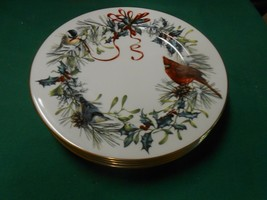 """Beautiful LENOX """"Winter Greetings""""by Catherine McClung USA   4 BREAD Plates 8"""" - $42.16"""