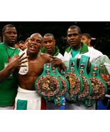FLOYD MAYWEATHER JR 8X10 PHOTO BOXING PICTURE WITH 6 BELTS - $3.95
