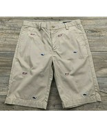 Vinyard Vines Chino Shorts Youth Boys Beige With Whales ~ USA Made Style... - £9.37 GBP