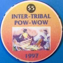 $5 Casino Chip, Spotlight 29, Coachella, CA. Inter-Tribal Pow-Wow 1997. O94. - $6.50