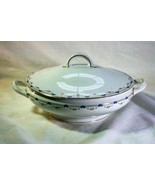 Royal Bayreuth Antique Circa 1912 Pink Floral Swags Round Covered Casser... - $31.49