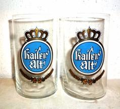 2 Kaiser Warsteiner Altbier German Beer Glasses - $14.95