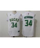 Men's Milwaukee Bucks #34 Giannis Antetokounmpo White Stitched Basketbal... - $26.66