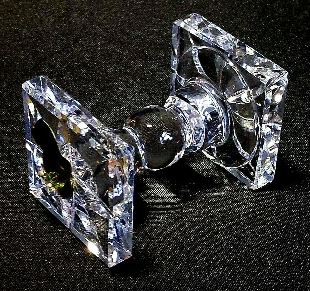 "Primary image for 1 (One) WATERFORD KNIFE REST Cut Lead Crystal 2 1/2"" - Signed with Gold Tag"