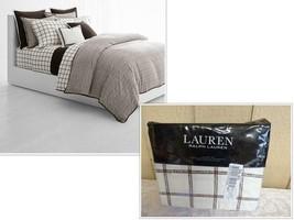 $220.00 Lauren Ralph Lauren Dorian 4-Pc. King Sheet Set, Brown/ Cream - $64.60