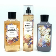 Bath and Body Works Almond Blossom Shower Gel, Body Lotion, Fine Mist Tr... - $32.13