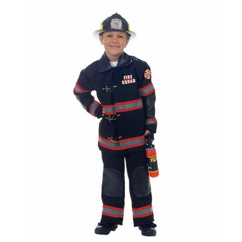Underwraps Pompier Pompiers Uniforme Noir Enfants Déguisement Halloween 26082